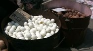 Stock Video Footage of Eggs for sale at a Chinese market