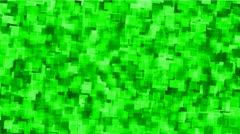 Green watercolor square mosaic papers and debris background. Stock Footage