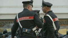 Carabinieri in Italy Stock Footage