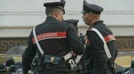 Stock Video Footage of Carabinieri in Italy