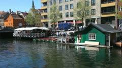Copenhagen pittoresque canals Stock Footage