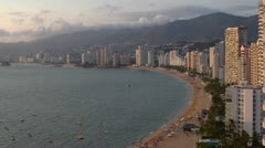 Acapulco bay mexico coast beach  Stock Footage