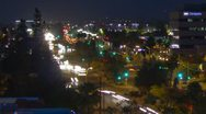 HD 30p tight time lapse of night traffic from a birds eye view Stock Footage