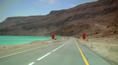 Road of  the Dead Sea Stock Footage
