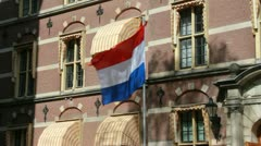 Dutch Flag in The Hague Stock Footage