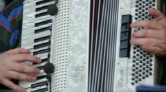 Accordion player Stock Footage