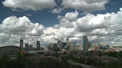 Time-lapse, Calgary Skyline Stock Footage
