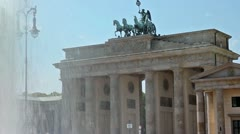 Brandenburg gate compilation Stock Footage