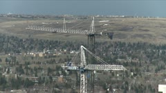 Cranes profile from elevation Stock Footage