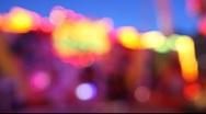 Fun park blur Stock Footage