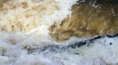 Threshold on the river Stock Footage