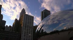 Chicago Bean Timelapse Stock Footage