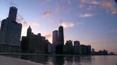 Chicago Lakefront Skyline Timelapse Stock Footage