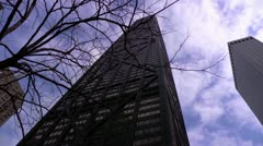Chicago John Hancock Building Dolly - stock footage