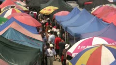 Second hand market people Stock Footage