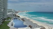 Stock Video Footage of cancun hotel mile beach