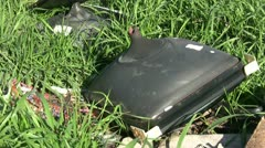 Electronic Waste in the Nature Stock Footage