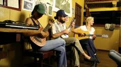 Grammy Award winner Esperanza Spalding sings in the Peruvian Amazon. Stock Footage