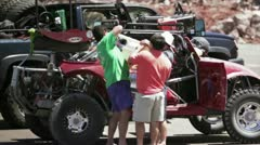 Norra Rally refuelling 4 Stock Footage