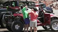 Stock Video Footage of Norra Rally refuelling 4