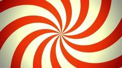 Retro Pinwheel, Red (25fps) - stock footage