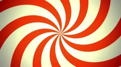 Retro Pinwheel, Red (30fps) Stock Footage