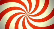 Stock Video Footage of Retro Pinwheel, Red (30fps)