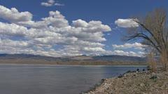 Fishing Cloud Time Lapse at Topaz Lake Stock Footage