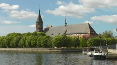 Kant's cathedral in Kaliningrad. Russia Stock Footage