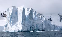 glacier in paradise bay - stock photo