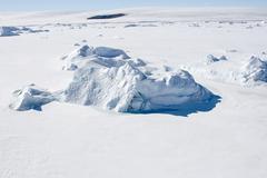 sea ice on antarctica - stock photo