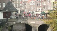 Stock Video Footage of Utrecht City Center - Canal