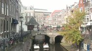 Stock Video Footage of Utrecht City Center - Paddle Boat