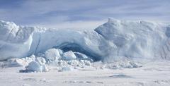 icebergs on antarctica - stock photo