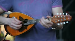 Playing the mandolin Stock Footage