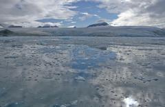 glacier - stock photo