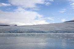 Stock Photo of front of a glacier