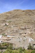 Stock Photo of view of a village in the atlas mountains, morocco