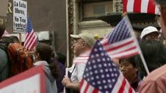 Waving American Flags Stock Footage