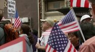 Waving American Flags Stock Footage