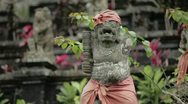 Balinese statue Stock Footage