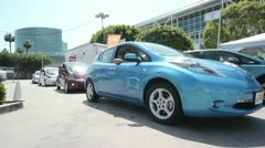 Electric Car Line Up Stock Footage