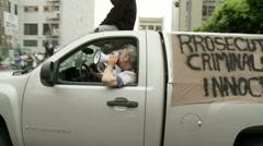 Occupy LA Megaphone Stock Footage