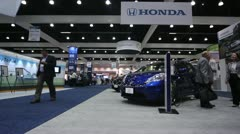Electric Vehicle Symposium Exhibit Floor 1 Stock Footage