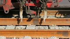 Ballast tamping Stock Footage