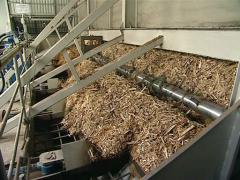 Wood chip for heating Stock Footage