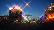 Heihe City Night Lights Stock Footage