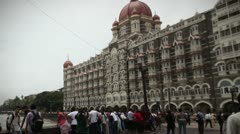 Mumbai Crowds Timelapse Stock Footage