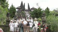 Temple pilgrimage wide Stock Footage