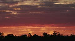 Australia Country Sunet Stock Footage